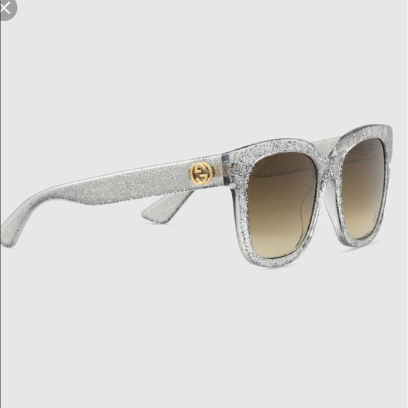 b1ee797238f Gucci Accessories - Gucci silver glitter sunglasses